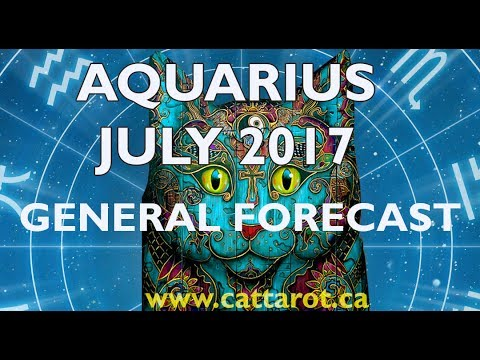 💞 AQUARIUS JULY 2017 TAROT GENERAL FORECAST ***Get off your butt and show initiative***