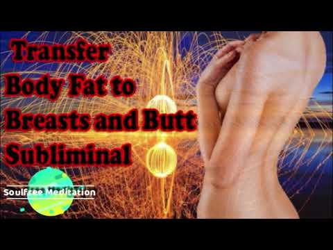Instantly Transfer Body Belly Fats To Breast & Butt Subliminal Affirmations 減量 痩せれるサブリミナル 潜在意識の書き換え