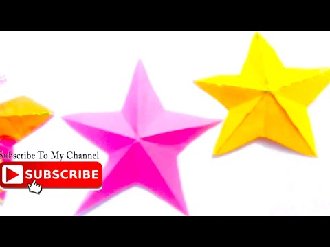 DIY EASY Craft idea for kids-Paper star-how to make star in one cut - cool and creative #129
