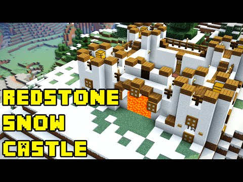 Minecraft: Advanced Snow/Ice Redstone Castle Tutorial Xbox/PE/PC/PS3/PS4