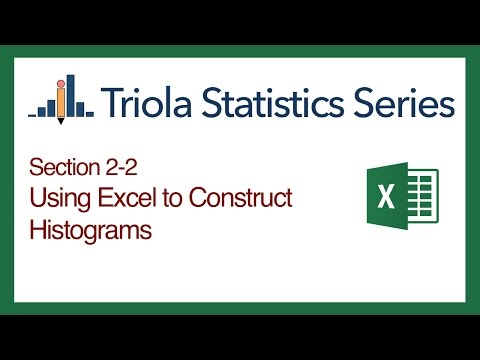 Excel Section 2-2: Using Excel to Construct Histograms