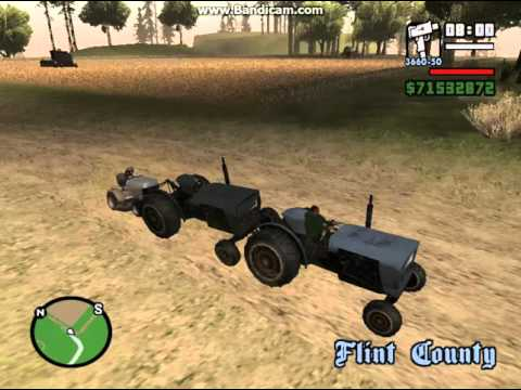 GTA San Andreas Where to Find Mower and Tractor
