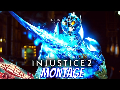 Injustice 2 Beta Blue Beetle Gameplay Openings, Interactions and Gear Montage