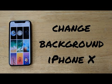 How to change background/ wallpaper iPhone X