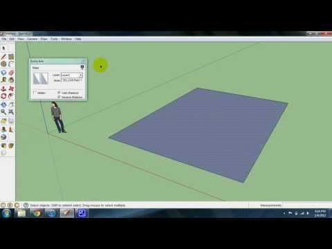 Calculating Square Footage in SketchUp