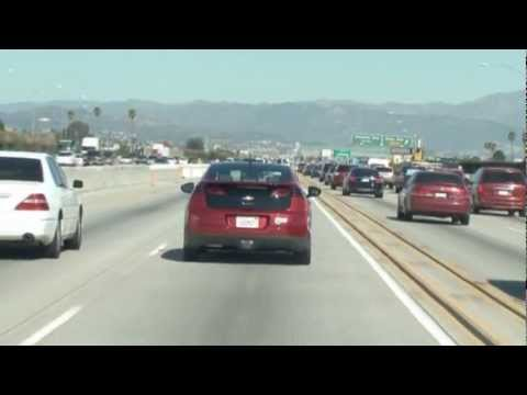 Chevy Volt in the HOV lane in California