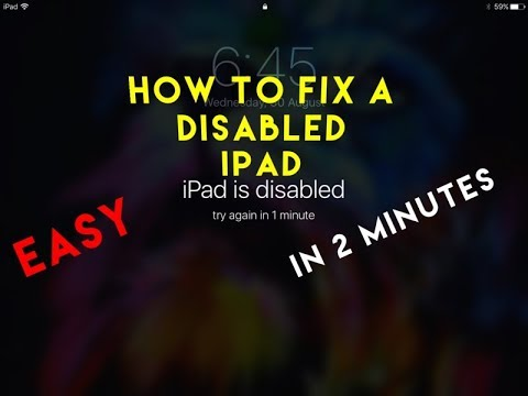 How to fix a disabled iPad or iPhone without iTunes