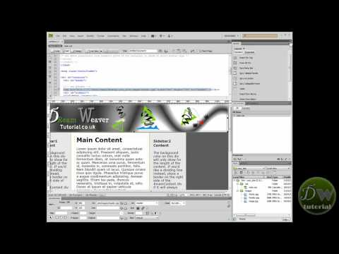 Dreamweaver template tutorial part 3 - Create template and insert headers and footers