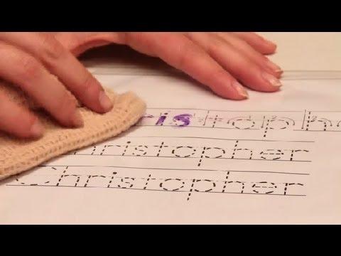 How to Make Preschool Name-Tracing Templates : Preschool Teacher Tips