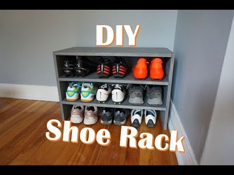 How to organize your shoes / Shoe Rack DIY