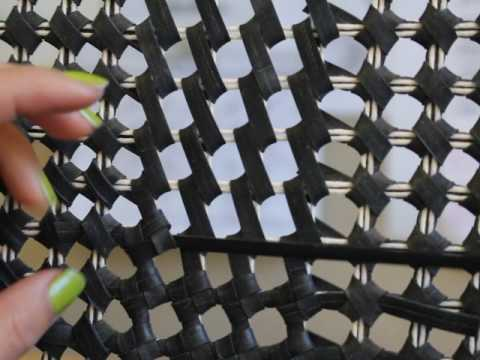 Weaving with rubber inner tubes