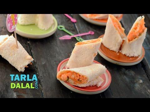 Carrot Pinwheels by Tarla Dalal