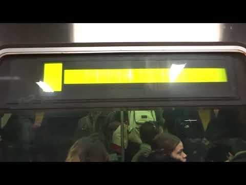 NYC Subway Rush Hour: Coney Island-bound R46 (Q) Entering & Leaving Times Square-42nd Street