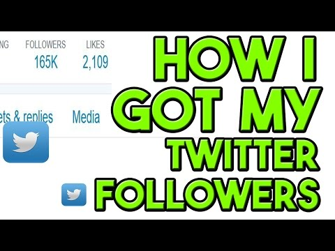 how to get twitter followers without following