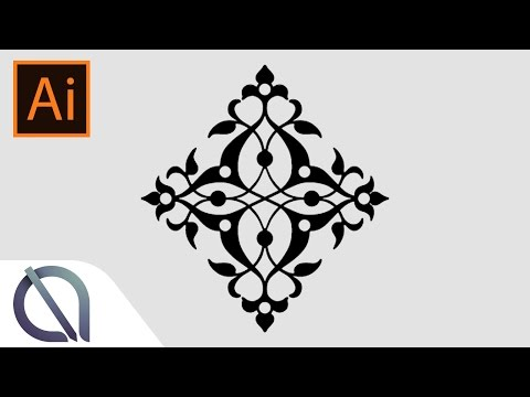 Real time mirror effect (symmetry) - Tutorial - Illustrator