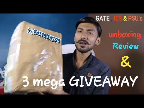 GATEMENTOR : STUDYMATERIAL { GATE,IES,PSU`s } | UNBOXING, REVIEW & 3 MEGA GIVEAWAY