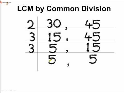 Math - How to find  LCM By Common Division Method - English