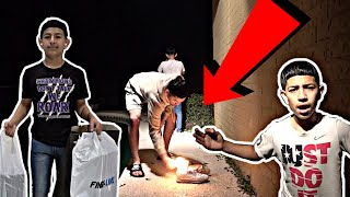 Burning my lil bros shoes, then buying him 3 NEW PAIRS! 😂🔥🤑