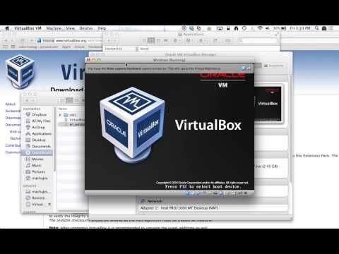 Microsoft Imagine Mac OS X: VirtualBox installation of Windows