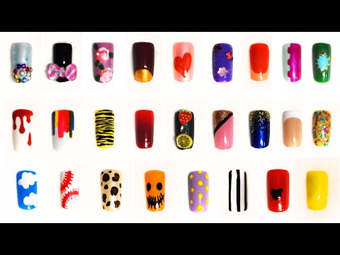 Short nails compilation: 26 very easy designs for beginners