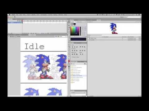 Sonic the hedgehog - Make the game in Flash AS2 Part 1