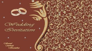 how to design a wedding invitation card front page in photoshop