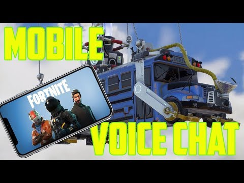 Fortnite MOBILE Voice Chat Update is Here! Everything you NEED to know!