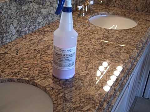 Granite Shield - Kleen N Shine - I NEVER Have to Wipe Up Spills Immediately