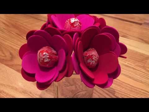 Valentine's Day Lollipop Flowers - Kids DIY