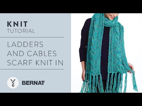How To Knit Ladders and Cables Scarf