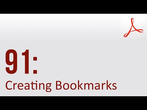 Creating Bookmarks in Acrobat Pro