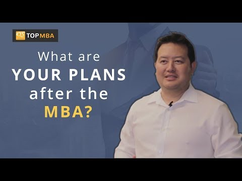 Plans after the MBA?