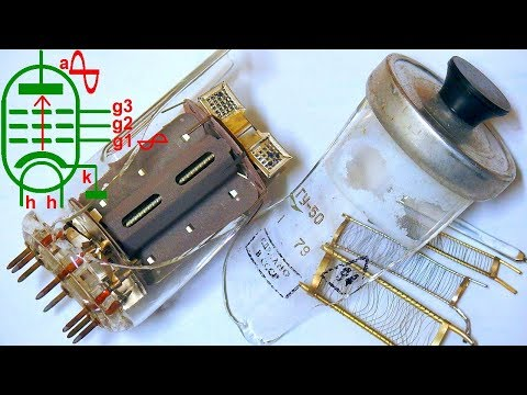 How does a vacuum tube work (GU-50 power pentode autopsy)