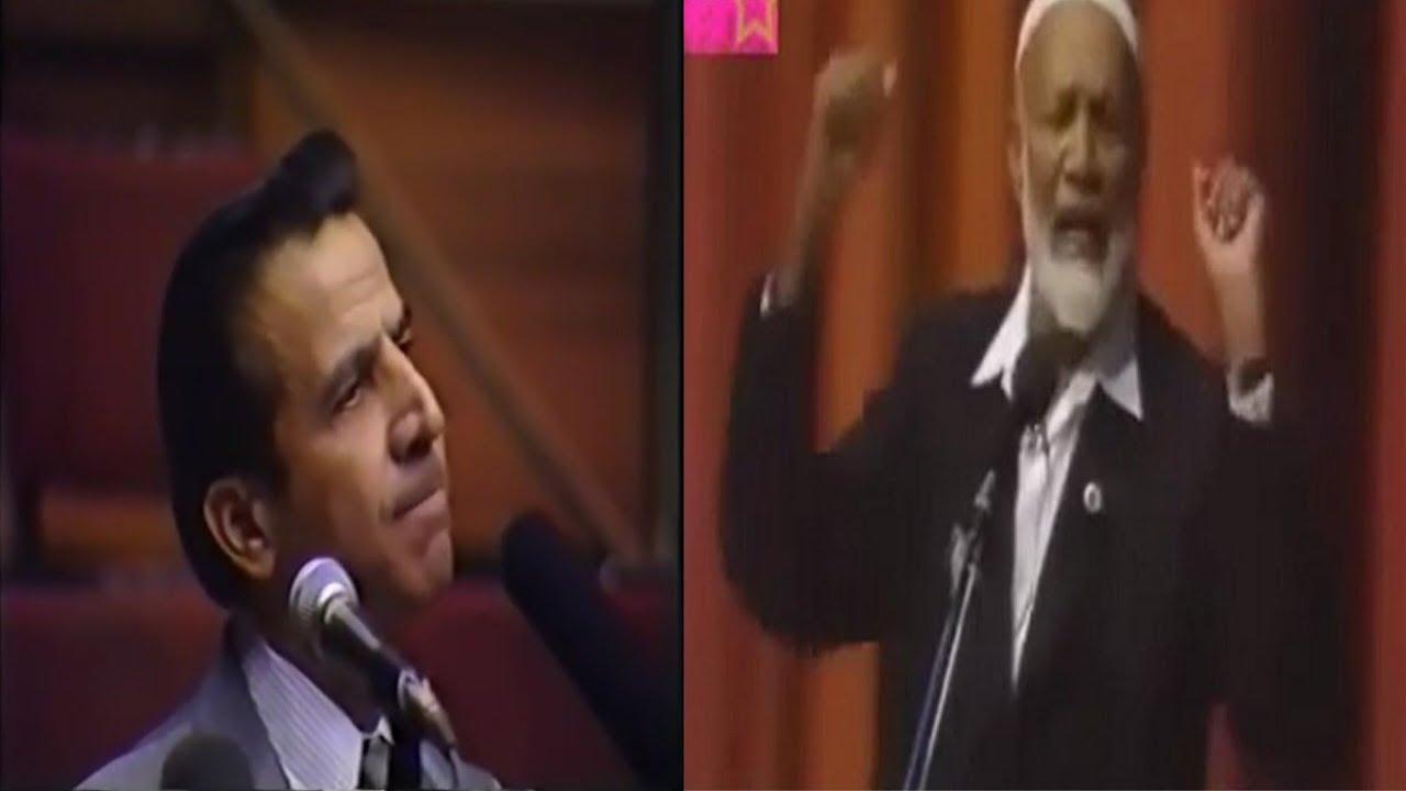 شاهد كيف أعجز الشيخ أحمد ديدات الدكتور الفلسطيني انيس شروش بسؤال واحد ! المناظرة كاملة