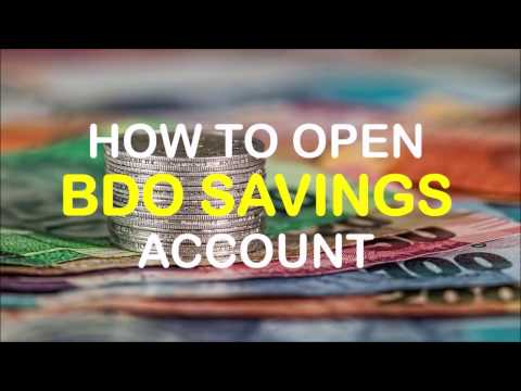 How to Open BDO Savings Account