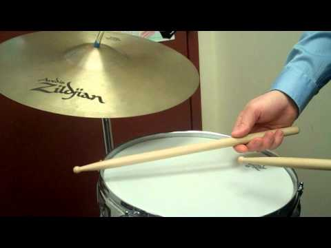 How to Play a Basic Rock Beat on Snare Drum and Cymbal