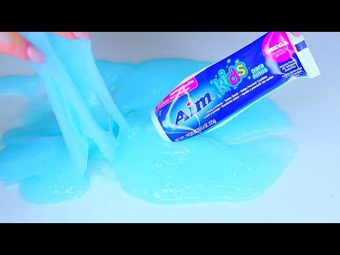 How to Make Slime Toothpaste and Glue, Without Starch and Without Detergent Cách làm slime