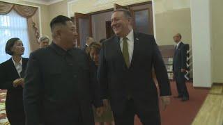 Pompeo, Kim Jong Un share lunch in North Korea