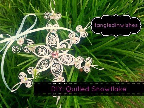 DIY: Paper Quilling-Snowflake Ornament