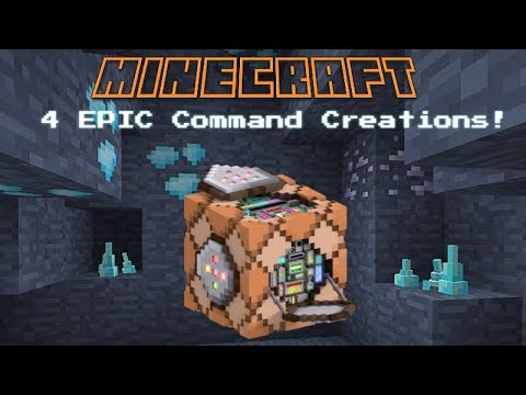 Four EPIC Minecraft Command Block Creations!