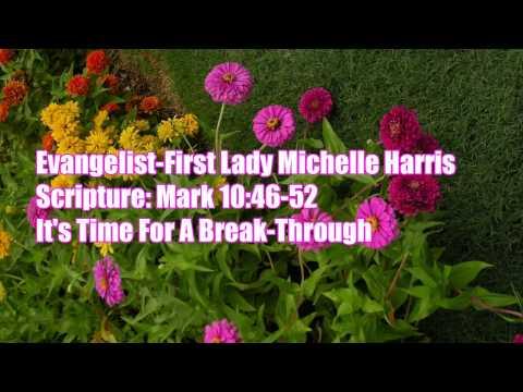 First Lady Michelle Harris Mark 10:46-52-Feb28,2014