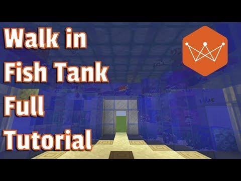 Minecraft Walk in Fish-Tank Full Tutorial for 1.13
