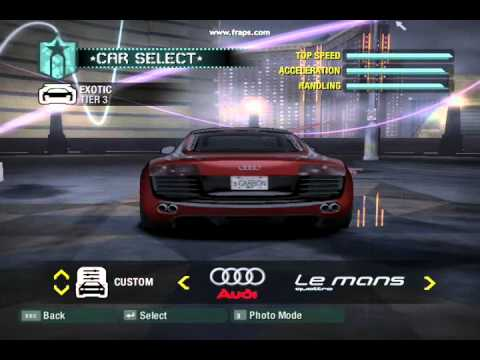 Need For Speed Carbon All Cars and Bonus Cars