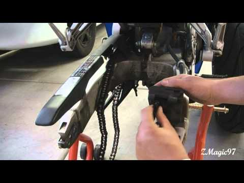 Changing the Rear Brakes on a Motorcycle