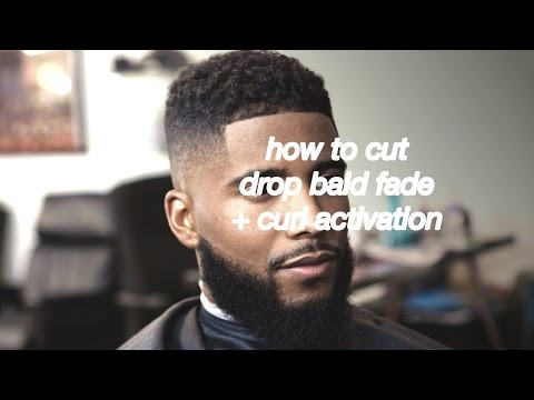 HAIRCUT TUTORIAL: how to cut drop bald fade + curl activation (no hair design) #HERMCLIPSON