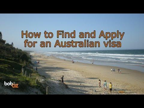 How to apply for an Australian visa...