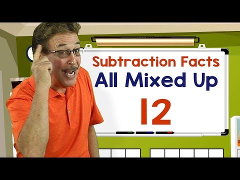 Subtraction Facts All Mixed Up 12 | Math Songs for Kids | Jack Hartmann