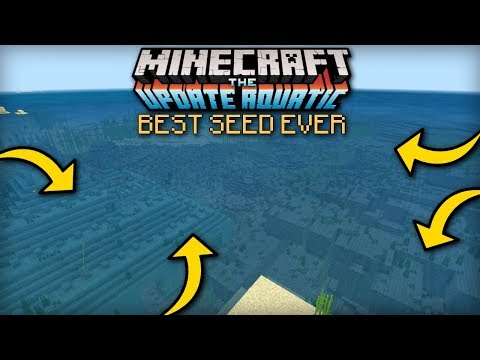 Minecraft - BEST AQUATIC UPDATE SEED EVER - MCPE / Xbox / Bedrock