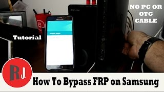 How to bypass Factory Reset Protection on Samsung devices without  PC or OTG new crazy method