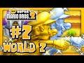 New Super Mario Bros. 2 - World 2 (1/2) (2 Player) 100% ...